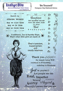IndigoBlu Be Yourself A5 Rubber Stamp (IND0601)