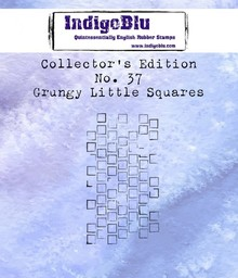 IndigoBlu Collectors Edition 37 Rubber Stamp - Grungy Little Squares (IND0602)