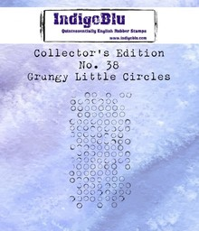 IndigoBlu Collectors Edition 38 Rubber Stamp - Grungy Little Circles (IND0603)