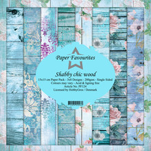 Paper Favourites Shabby Chic Wood 6x6 Inch Paper Pack (PF124)