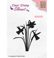Nellie Snellen Daffodil Clear Stamp (SIL064)