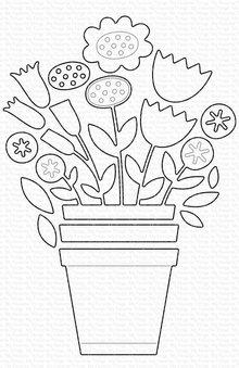 My Favorite Things Die-namics Planted Blooms (MFT-1723)