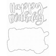 My Favorite Things Die-namics Hand-Lettered Happy Birthday (MFT-1724)