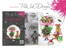 Pink Ink Designs Classy Bird A5 Clear Stamp Set (P1033)