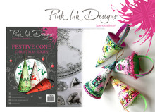 Pink Ink Designs Festive Cone A5 Clear Stamp Set (P1034)