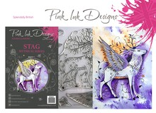 Pink Ink Designs Stag A5 Clear Stamp Set (P1035)