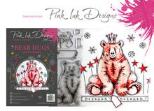 Pink Ink Designs Bear Hugs A5 Clear Stamp Set (P1039)