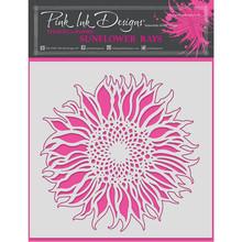 Pink Ink Designs Sunflower Rays 8x8 Inch Masking Stencil (PINKST005)