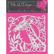 Pink Ink Designs Gentle Giraffe 8x8 Inch Masking Stencil (PINKST007)
