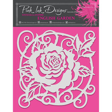 Pink Ink Designs English Garden 8x8 Inch Masking Stencil (PINKST008)