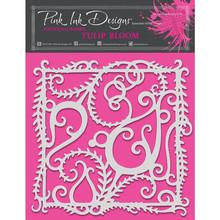 Pink Ink Designs Tulip Bloom 8x8 Inch Masking Stencil (PINKST009)