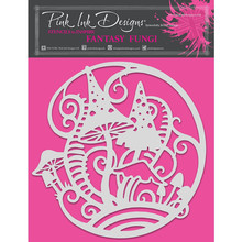 Pink Ink Designs Fantasy Fungi 8x8 Inch Masking Stencil (PINKST010)