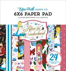 Echo Park Alice in Wonderland No. 2 Inch 6x6 Paper Pad (WO214023)