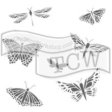 The Crafter's Workshop Mariposas 6x6 Inch Stencil (TCW260s)