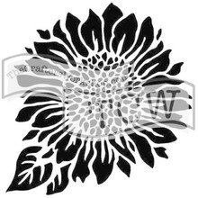 The Crafter's Workshop Joyful Sunflower 6x6 Inch Stencil (TCW575s)