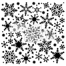The Crafter's Workshop Snowflakes 6x6 Inch Stencil (TCW720s)