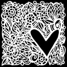 The Crafter's Workshop Love Frame 6x6 Inch Stencil (TCW825s)