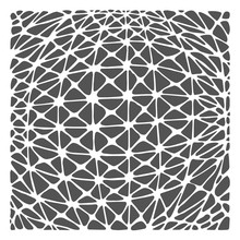 The Crafter's Workshop Geo Netting 6x6 Inch Stencil (TCW901s)