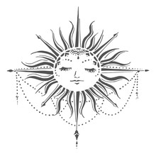 The Crafter's Workshop Celestial Sun 6x6 Inch Stencil (TCW923s)