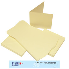 Craft UK Limited Cards & Envelopes 5x5 Inch Ivory (CUK245)