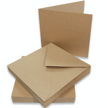 Craft UK Limited Cards & Envelopes 6x6 Inch Kraft (CUK2047)