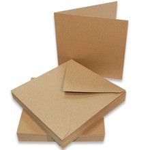 Craft UK Limited Cards & Envelopes 5x5 Inch Kraft (CUK2050)