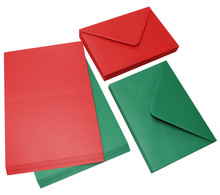 Craft UK Limited Cards & Envelopes C6 Red & Green (CUK2062)