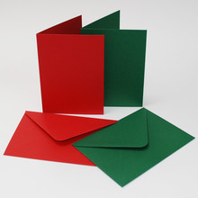 Craft UK Limited Cards & Envelopes 6x6 Inch Red & Green (CUK2038)