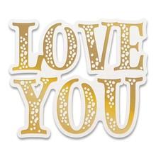 Couture Creations My Secret Love Love You Sentiment Cut, Foil & Emboss Dies (CO727632)