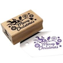 Miss Honeybird Merry Christmas Wooden Stamp