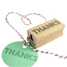 Miss Honeybird Thanks Dotted Wooden Stamp