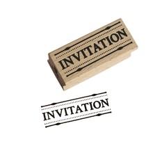 Miss Honeybird Invitation Wooden Stamp
