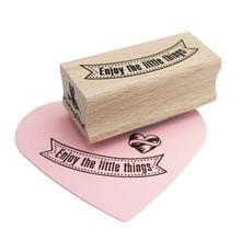 Miss Honeybird Enjoy the Little Things Wooden Stamp