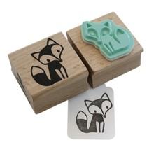 Miss Honeybird Fox Wooden Stamp