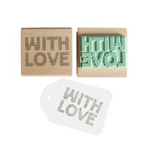 Miss Honeybird With Love Dotted Wooden Stamp