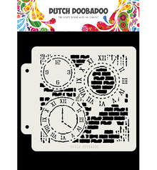 Dutch Doobadoo Mask Art Grunge Clock (470.715.154)