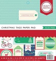Craft Smith Christmas Tags 6x6 Inch Paper Pad (CIN022)