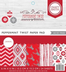 Craft Smith Peppermint Twist 6x6 Inch Paper Pad (CIN027)
