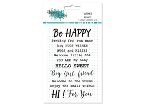 Happy Scrap Wishes Be Happy Clear Stamps Set (866069)