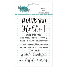 Happy Scrap Wishes Hello Clear Stamps Set (866052)