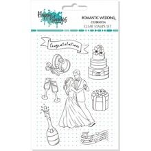 Happy Scrap Romantic Wedding Celebration Clear Stamps Set (866007)