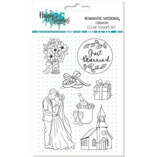 Happy Scrap Romantic Wedding Ceremony Clear Stamps Set (865994)