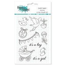 Happy Scrap Sweet Baby Awaiting Clear Stamps Set (866014)