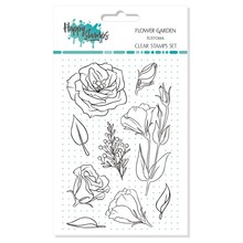 Happy Scrap Flower Garden Eustoma Clear Stamps Set (866038)