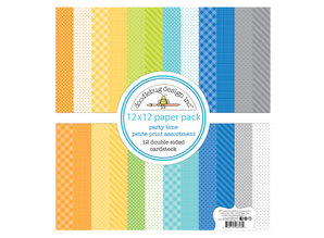 Doodlebug Design Inc. Party Time 12x12 Inch Petite Print Paper Pack (6693)