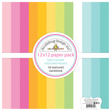 Doodlebug Design Inc. Hey Cupcake 12x12 Inch Textured Cardstock Paper Pack (6694)