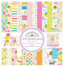 Doodlebug Design Inc. Hey Cupcake 12x12 Inch Paper Pack (6690)
