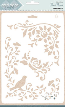 Card Deco Mixed Media Stencil Flowers (CDEST005)