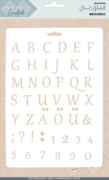 Card Deco Mixed Media Stencil Alphabeth (CDEST006)