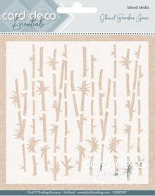 Card Deco Mixed Media Stencil Bamboo Grass (CDEST007)